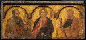 Pietro_Lorenzetti,_Christ_Between_Saints_Peter_and_Paul,_c.1320,_Ferens_Art_Gallery
